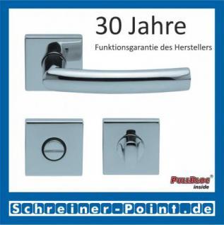 Scoop Geo quadrat PullBloc Quadratrosettengarnitur, Rosette Edelstahl poliert - Vorschau 3