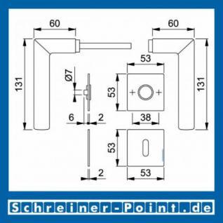 Hoppe Amsterdam Edelstahl Flachrosettengarnitur F69 E1400Z/848/848-S, 3374497, 3189988, 3189996, 3190006 - Vorschau 4