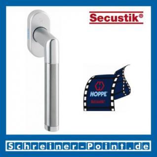 Hoppe Amsterdam Aluminium/Edelstahl Fenstergriff F1/F69 Natur/Edelstahl matt Secustik 0400/US956, 1934631, 1934649
