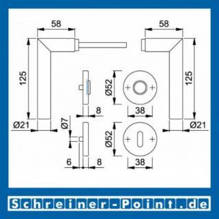 Hoppe Amsterdam Edelstahl Rosettengarnitur F69 E1400Z/42KV/42KVS, 3289719, 6439996, 3289743, 6566848, 3289735, 6439988, 3297111 - Vorschau 5
