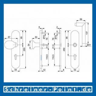 Schutzbeschlag Hoppe Amsterdam Aluminium F1 Natur 86G/3331/3330/1400 ES1 (SK2), 3346357, 3346453 - Vorschau 2