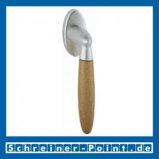 Hoppe Athinai Fenstergriff F98/H07 Messing matt verchromt / Buche