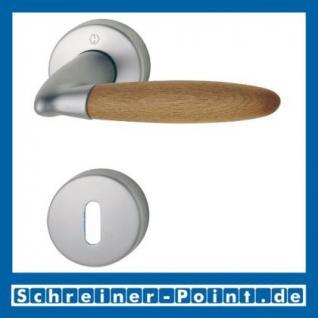 Hoppe Athinai Messing matt verchromt/Buche F98/H07 Rosettengarnitur M156/19KV/19KVS, 2711404, 2711308, 2711341, 2727414