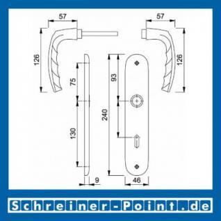 Hoppe Atlanta Aluminium Langschildgarnitur F1 Natur 1530/273P, 2791571, 2320884, 2791598, 2791619, 2409547, 2791926 - Vorschau 5