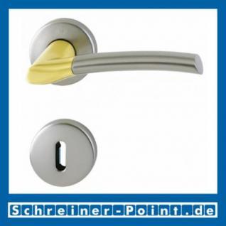 Hoppe Bergen Messing matt / Alu Stahl F72/F9 Rosettengarnitur M1602/19KV/19KVS, 2711543, 2711463, 2711471, 2727431, 2727633 - Vorschau