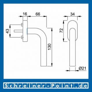 Hoppe Bonn Edelstahl Fenstergriff F69 Secustik E050/US956 - Vorschau 2