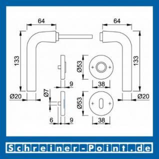 Hoppe Bonn Aluminium Rosettengarnitur F1 Natur 150/42KV/42KVS, 3386877, 3386885, 3386893, 3386931 - Vorschau 5