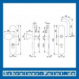 Schutzbeschlag Hoppe Bonn ZA F69 Edelstahl E86G/3332ZA/3330/150Z ES1 (SK2) 3331526, 3331593 - Vorschau 2