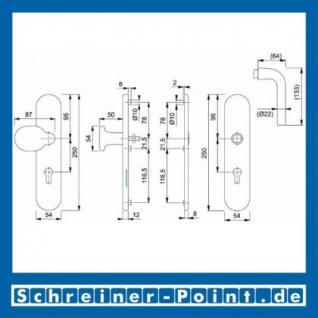 Schutzbeschlag Hoppe Bonn Aluminium F1 Natur 86G/3331/3330/150 ES1 (SK2), 3361872, 3361952 - Vorschau 2