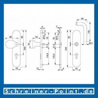 Schutzbeschlag Hoppe Bonn F69 Edelstahl E86G/3331/3330/150Z ES1 (SK2), 3328386, 3328360 - Vorschau 2