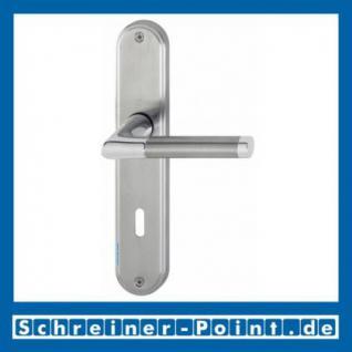 Hoppe Capri Messing verchromt /Edelstahl F49/F69 matt Langschildgarnitur M1950/3530, 2804344, 2804352