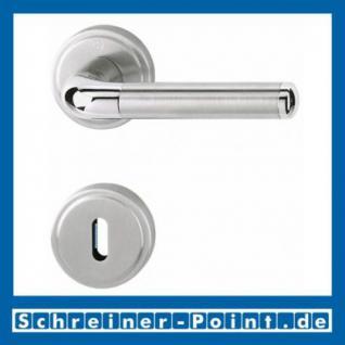 Hoppe Cortina Messing verchromt / Edelstahl matt F49/F69 Rosettengarnitur M195/15KV/15KVS, 816064, 6907687, 6907695, 6908610