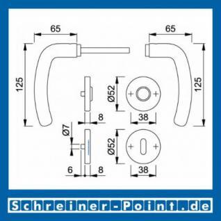 Hoppe Denver Edelstahl Rosettengarnitur F69 E1310Z/42KV/42KVS, 2820416, 2820424, 2820467, 2821030 - Vorschau 5