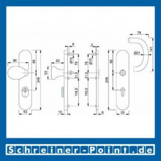 Schutzbeschlag Hoppe Göteborg ZA F69 Edelstahl E86G/3332ZA/3330/1410Z ES1 (SK2), 3329012, 3328984 - Vorschau 2
