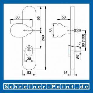 Hoppe Edelstahl Knopfschild E86G/3332ZA ES1 (SK2) (Knopfschild für Kombi-Schutz) 3332300, 3332246 - Vorschau 2