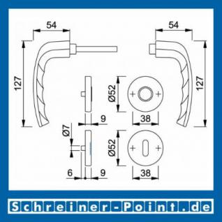 Hoppe New York Aluminium Rosettengarnitur F9 Stahlfarben 1810/42KV/42KVS, 3273215, 3273240, 3273266, 3273311 - Vorschau 5