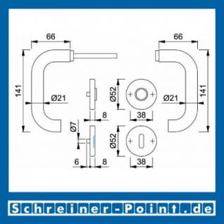 Hoppe Paris Edelstahl Rosettengarnitur F69 E138Z/42KV/42KVS, 3290074, 6377360, 3290082, 6566814, 3290066, 6377394, 3297057 - Vorschau 5