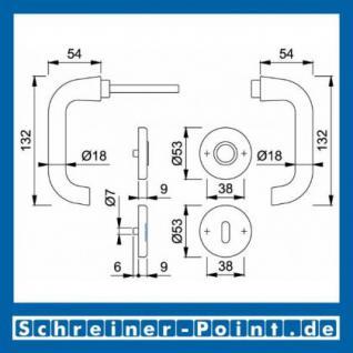 Hoppe Paris Aluminium Rosettengarnitur F1 Natur 138L/42KV/42KVS, 3409178, 8129678, 3409194, 6989651, 3409080, 6989396, 2289251, 6987168 - Vorschau 5