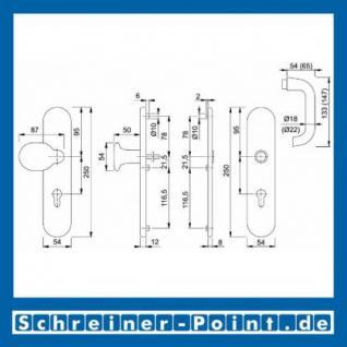 Schutzbeschlag Hoppe Paris Aluminium F2 Neusilber 86G/3331/3330/138 ES1 (SK2), 3364504, 6938120, 3345899, 6938203 - Vorschau 2