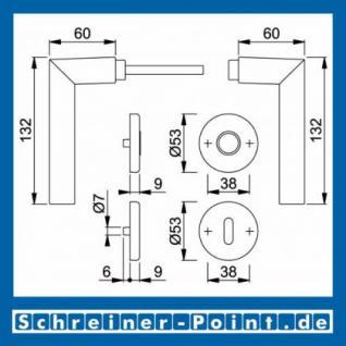Hoppe Stockholm Aluminium Rosettengarnitur F1 Natur 1140/42KV/42KVS, 2782712, 2768291, 2783070, 2783205, 2768304, 2784101 - Vorschau 5