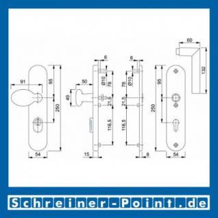 Schutzbeschlag Hoppe Stockholm Aluminium F1 Natur 76G/3332ZA/3440/1140 ES1 (SK2), 3345670, 3345661 - Vorschau 2