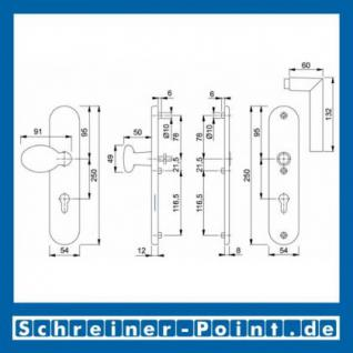 Schutzbeschlag Hoppe Stockholm Aluminium F1 Natur 76G/3331/3440/1140 ES1 (SK2), 3337311, 3337274 - Vorschau 2