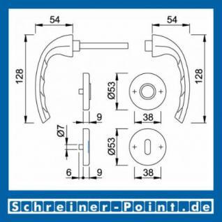 Hoppe Tokyo Aluminium Rosettengarnitur F1 Natur 1710/42KV/42KVS, 2805540, 8185258, 2805603, 2805646, 8185241, 2805662 - Vorschau 5