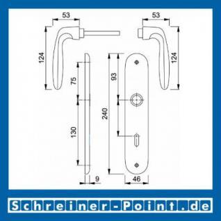 Hoppe Verona Aluminium Langschildgarnitur F9 Stahlfarben 1510/273P, 2962991, 2131397, 2963003, 2963011, 2131451, 2806614 - Vorschau 5