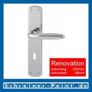 Hoppe Verona Renovation-Garnitur Messing verchromt F49 M151/3005, 8019713, 8025496, 8025504