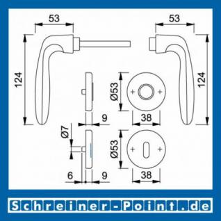 Hoppe Verona Aluminium Rosettengarnitur F2 Neusilber 1510/42KV/42KVS, 2963071, 6989313, 2963097, 2963100, 6995088, 2801856 - Vorschau 5