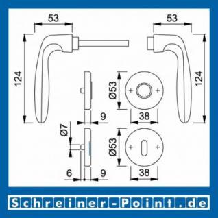 Hoppe Verona Aluminium Rosettengarnitur F9 Stahlfarben 1510/42KV/42KVS, 2963177, 2131485, 2918051, 2963185, 2131493, 2801872 - Vorschau 5