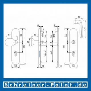 Schutzbeschlag Hoppe Verona Aluminium F2 Neusilber 86G/3331/3330/1510 ES1 (SK2), 3283624, 3224755, 8001927 - Vorschau 2