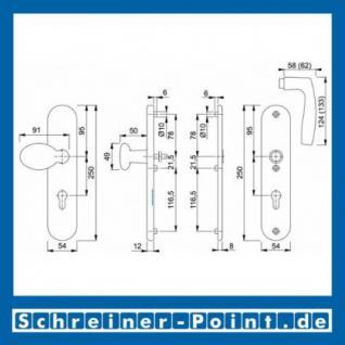 Schutzbeschlag Hoppe Vitoria Aluminium F9 Stahlfarben 76G/3331/3440/1515 ES1 (SK2), 3337611, 3233256 - Vorschau 2