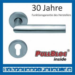 Scoop Jade I PullBloc Rundrosettengarnitur, Rosette Edelstahl matt - Vorschau 2