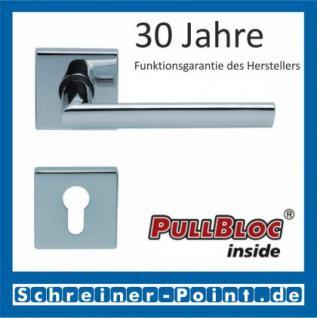 Scoop Jade II quadrat PullBloc Quadratrosettengarnitur, Rosette Edelstahl poliert - Vorschau 2