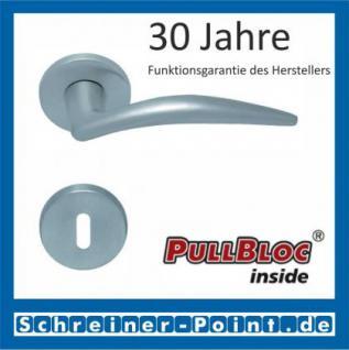 Scoop Lima PullBloc Rundrosettengarnitur, Rosette Edelstahl matt