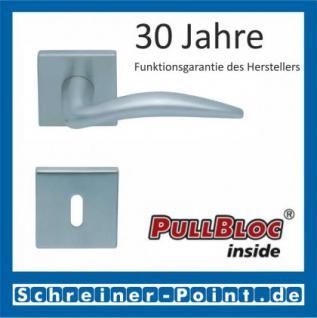 Scoop Lima quadrat PullBloc Quadratrosettengarnitur, Rosette Edelstahl matt