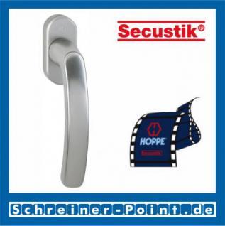 Hoppe Luxembourg Aluminium Fenstergriff F9 Stahl Secustik 099/US952, 8115461, 8106080