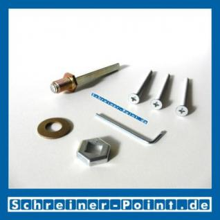 Hoppe Befestigungs-Set für Schutzbeschläge 8/72mm, sichtbare Verschraubung, Türstärke 47-52 mm, 3403180