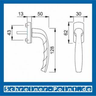 Hoppe New York Aluminium Fenstergriff F9 Stahlfarben 0810/U10, 3285371 - Vorschau 2