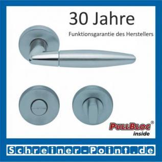 Scoop Optima PullBloc Rundrosettengarnitur Edelstahl poliert / Edelstahl matt, Rosette Edelstahl matt - Vorschau 3