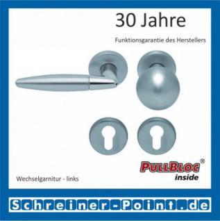 Scoop Optima PullBloc Rundrosettengarnitur Edelstahl poliert / Edelstahl matt, Rosette Edelstahl matt - Vorschau 5