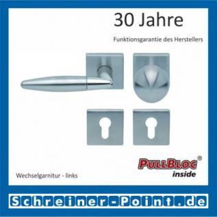 Scoop Optima quadrat PullBloc Quadratrosettengarnitur, Edelstahl poliert/Edelstahl matt, Rosette Edelstahl matt - Vorschau 5