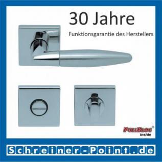 Scoop Optima quadrat PullBloc Quadratrosettengarnitur, Edelstahl poliert/Edelstahl matt, Rosette Edelstahl poliert - Vorschau 3