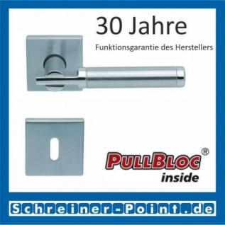 Scoop Pan quadrat PullBloc Quadratrosettengarnitur, Edelstahl poliert/Edelstahl matt, Rosette Edelstahl matt