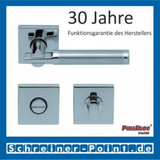 Scoop Pan quadrat PullBloc Quadratrosettengarnitur, Edelstahl poliert/Edelstahl matt, Rosette Edelstahl poliert - Vorschau 3
