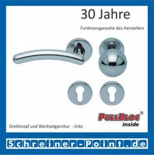 Scoop Prima PullBloc Rundrosettengarnitur Rosette Edelstahl poliert - Vorschau 5