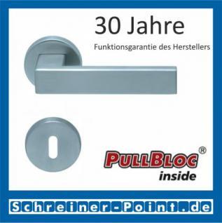 Scoop Quadra PullBloc Rundrosettengarnitur Rosette Edelstahl matt