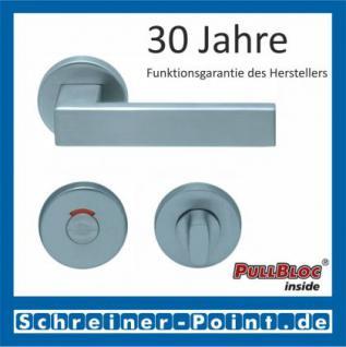 Scoop Quadra PullBloc Rundrosettengarnitur Rosette Edelstahl matt - Vorschau 4