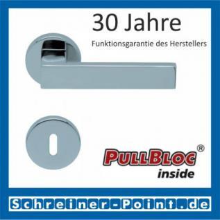 Scoop Quadra PullBloc Rundrosettengarnitur Rosette Edelstahl poliert - Vorschau 1